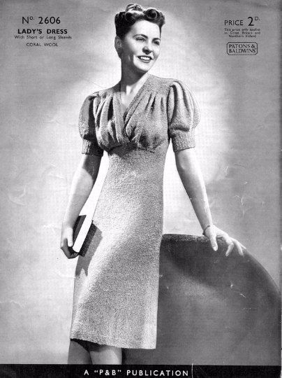 PDF Knitting Pattern for a Fabulous 1940s by TheKnittingSheep