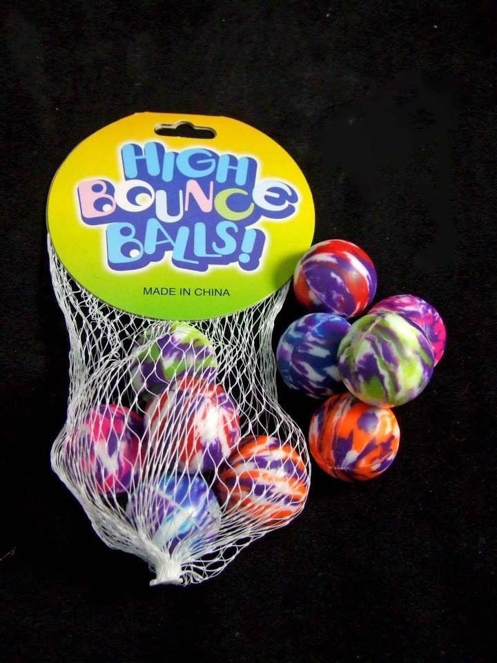 These bounce balls come in a variety pack of 5 colours and give children hours of fun with there high bounce.