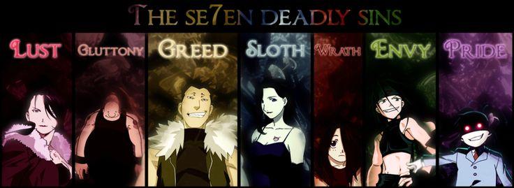 Seven Deadly Sins FMA | FullMetalAlchemist! | Pinterest ...