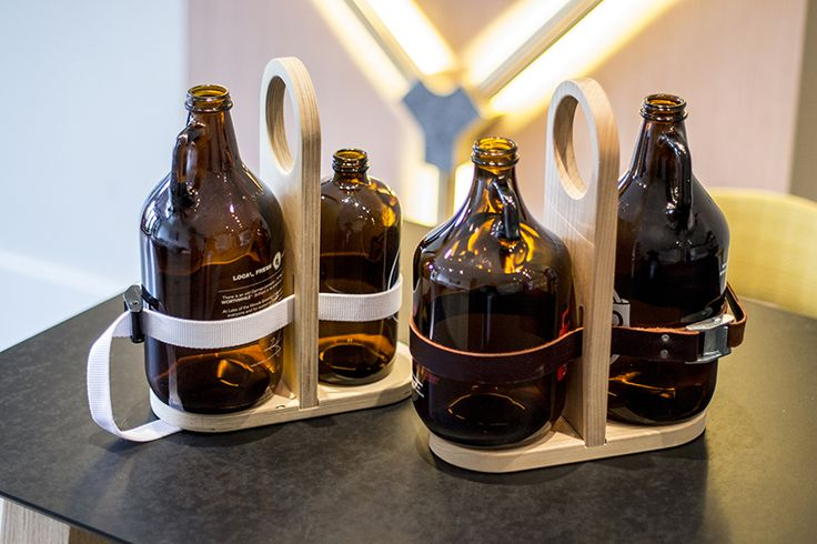 Cutlass Growler Carrier - transport two growlers full of beer in this elegant, lightweight carrier