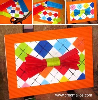 ✄ ★✩ Carte Nœud Papillon Fête des Pères / Father's Day Bow Ties Card ✩★✄ www.creamalice.com