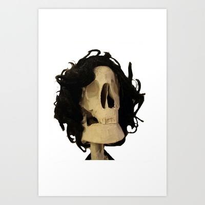 skeleton Art Print by Francesco Mestria - $12.48