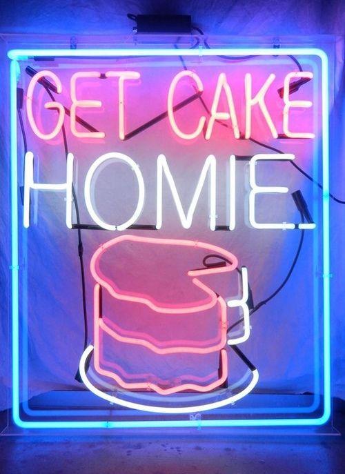 Imagen de cake, neon, and homie