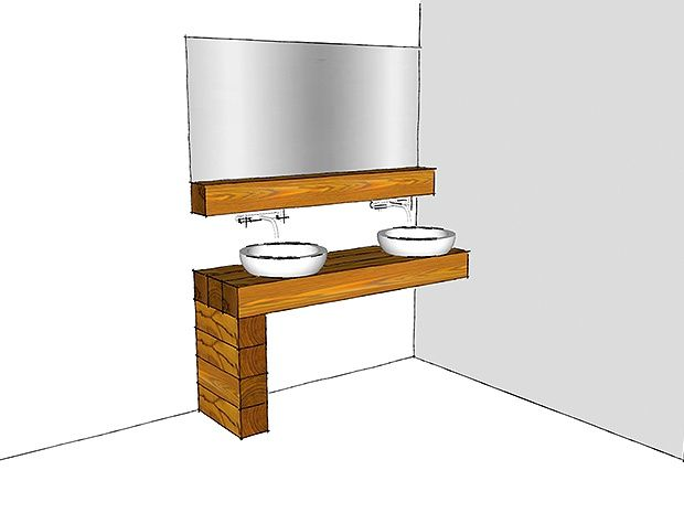 So Bauen Sie Sich Individuelle Mobelstucke Aus Massivholzbalken Ratgeber Bauhaus Mobelstuck Haus Design Holz