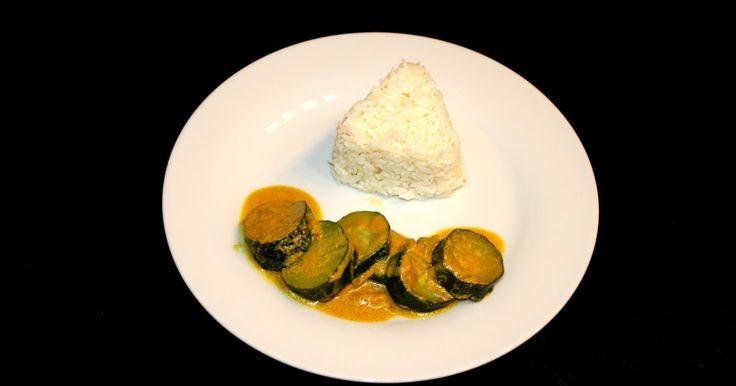 Calabacín al curry