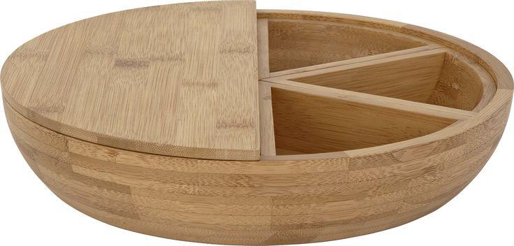 Beatrix salatbolle m/3 mindre boller i bambus. Dimensjon salatbolle: Ø30cm. Kr. 395,-