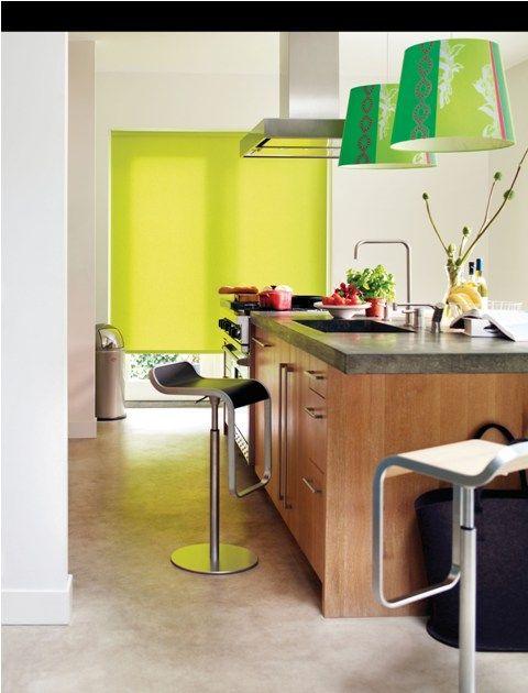Apollo Bright Green Kitchen Roller Blind