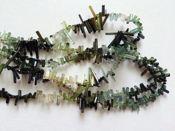 Rare Tourmaline Beads Green Shaded Tourmaline by gemsforjewels