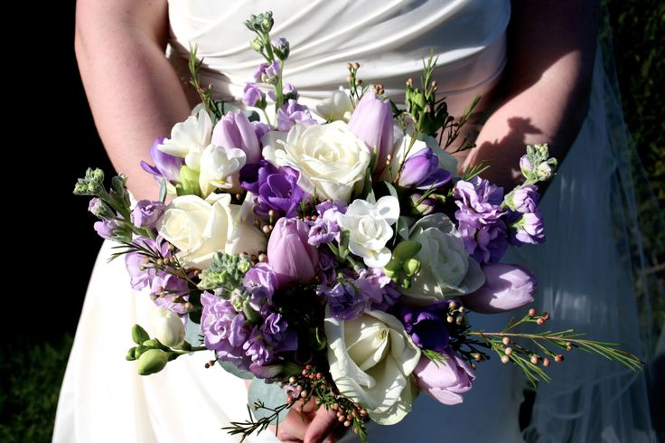 Purple Bridal bouquet from True Tulips