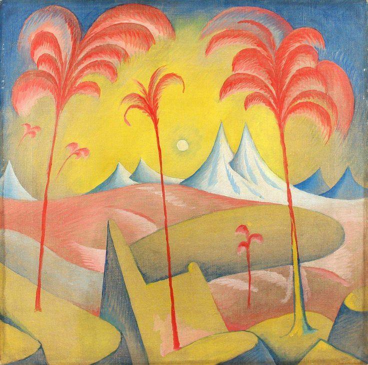 """Fantastic Landscape"" Zrzavy Jan Oil on Canvas 1913 http://ift.tt/2cmDLn5"