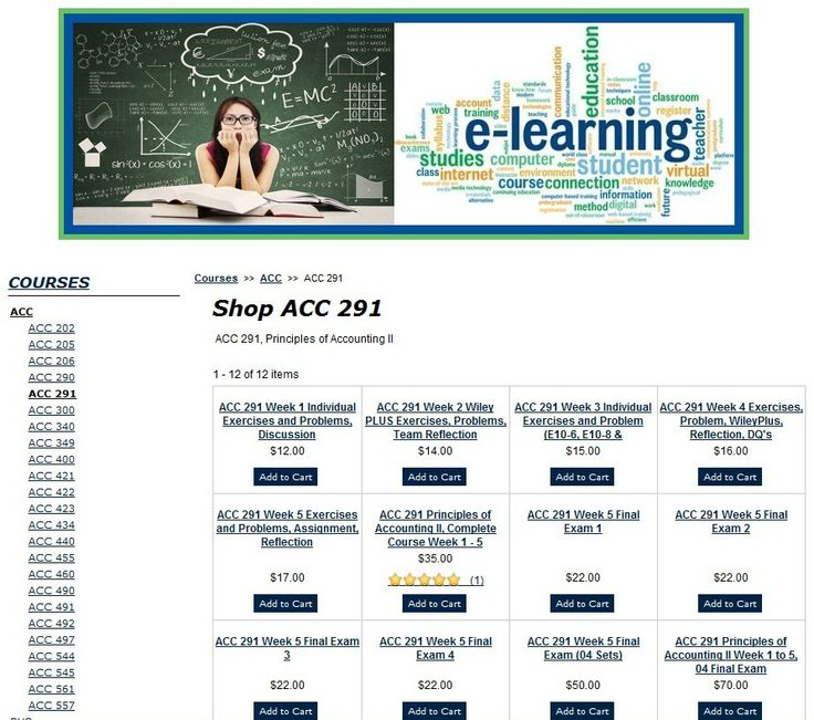 accounting 291 week 2 wiley plus e9 10 Labels: acc 291 final, acc 291 week 1, acc 291 week 2, acc 291 week 2 wiley plus answers, acc 291 week 3, acc 291 week 4, acc 291 week 5, acc 291 week 5 ratio analysis memo, exam acc 291 principles of accounting ii week 1 complete.