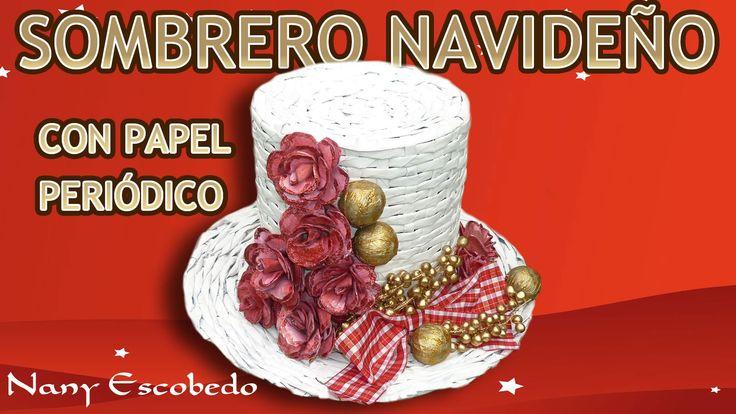 Una impresionante manualidad: realización de un Sombrero Navideño con papel de diario, para decorar, la mesa, un rincón u otras cosas, Los sombreros navideño...
