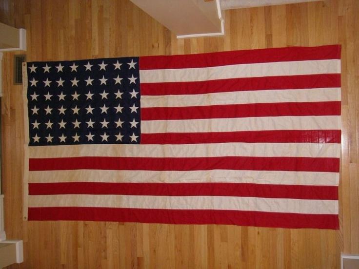 Giant Vintage 48 star flag.  $75 (too steep). Ebay.