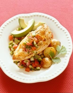 Receta de Pollo con Cilantro, Aguacate y Limon