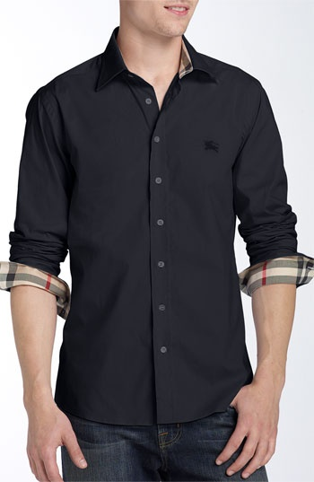 Burberry Brit Poplin Sport Shirt. OMG! BEBE YOU WOULD LOOK SO HOT IN THIS SHIRT!