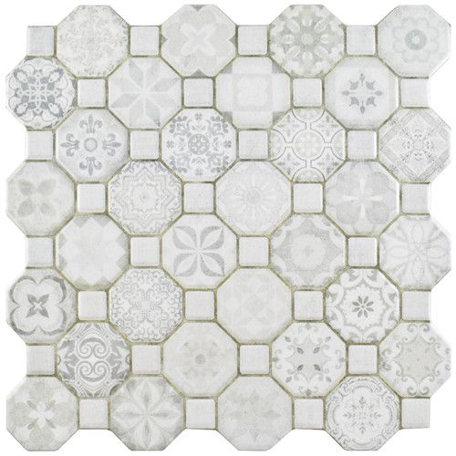 "Found it at Wayfair - Edredon 12.25"" x 12.25"" Ceramic Field Tile in White"