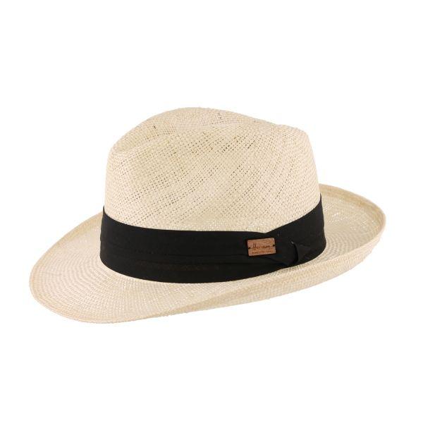 Chapeau paille fedora écru noir Sullivan #chapeaupaille @hermanheadwear #mode #bonplan #homme #startup