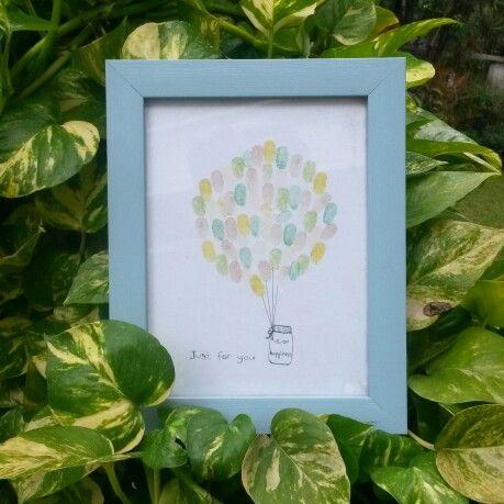 #OmemoriA fingerprint art happiness jar