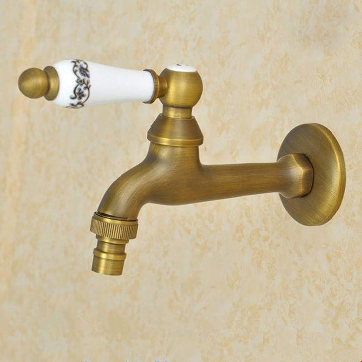 Grifo de agua fría de pared para lavabo de baño, bañera de ...