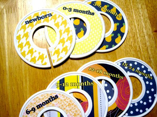 Who knew? Old Cd's turned into size labels for babies closet!