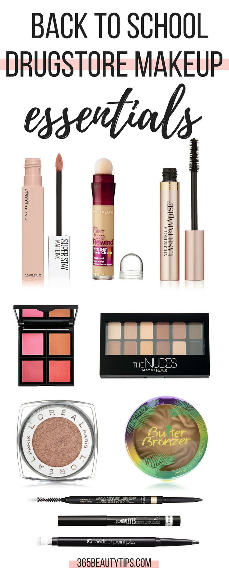 Back to school drugstore makeup essentials: check out these affordable, time - saving makeup picks!