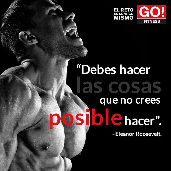 Eleanor Roosevelt #gofitness #clasesgo #ejercicio #gym #fit #fuerza #flexibilidad #reto #motivate #frases #roosevelt #eleanor