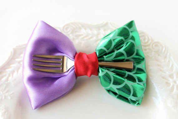 This Little Mermaid hair bow: