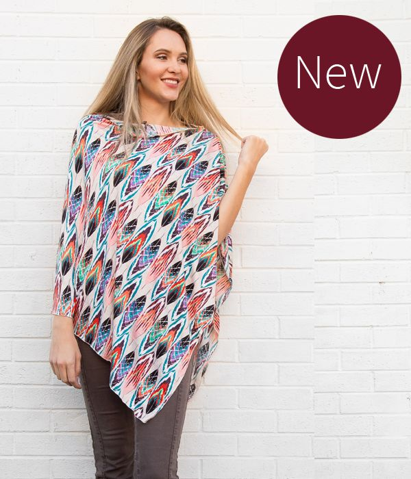 Feather Nursing Poncho