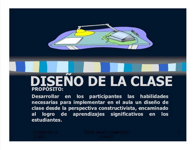 Planificando una Clase desde un Enfoque Constructivista   #Presentación #Educación