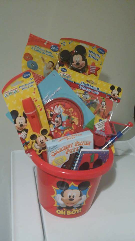 55 best easter baskets images on pinterest easter easter basket easter basket disney mickey mouse negle Gallery