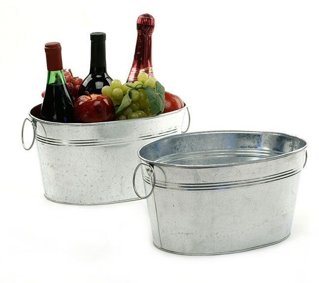 Galvanized Oval Deep Tub 12 Inch Deep Tub Steel Tub Metal Pail