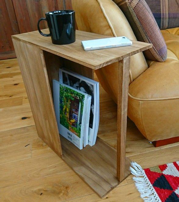 100均木材で作るカフェ風2wayサイドテーブル サイドテーブル インテリア 家具 サイドテーブル Diy