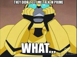 "He'd have been flabbergasted by the fact that Prime Bee can't talk... until the last episode, where Animated Bee would say something like ""Ha! I sound good!"""