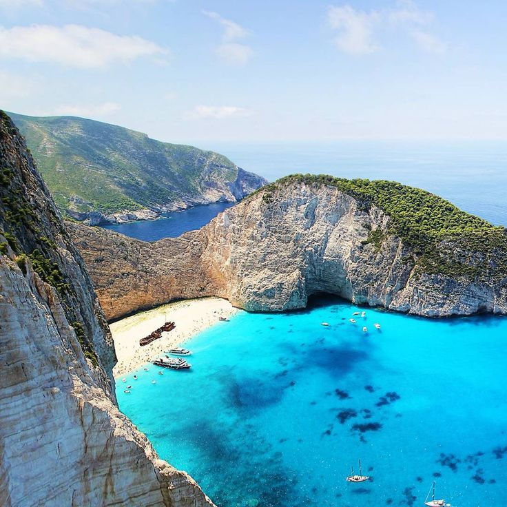 Shipwreck Beach-one of the best scenes in the Ionian Islands of Greece. www.SailChecker.com  #sailing #travel #holidays #adventure #instagood #wanderlust #tour #greece