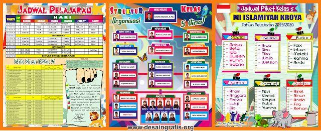Desain Banner Jadwal Pelajaran Menarik Unik Keren Desain Banner Desain Desain Cv