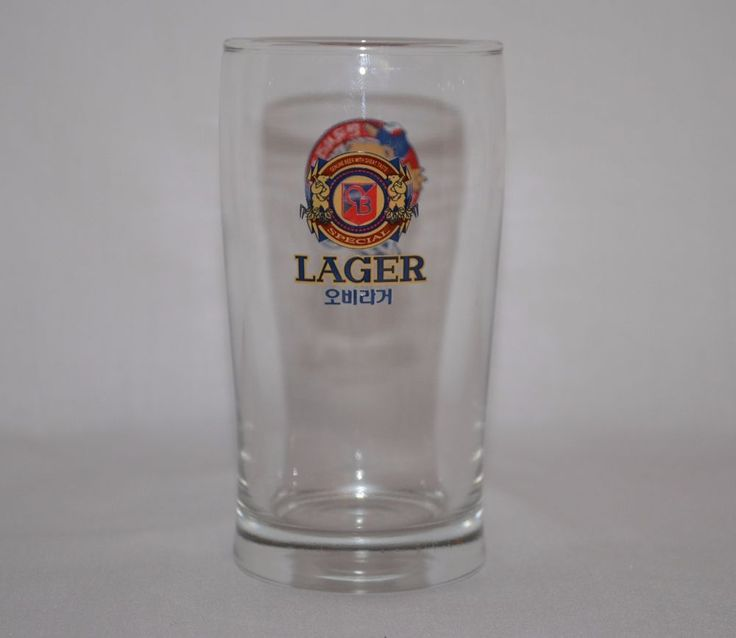 details about ob special lager beer tasting glass champion ob bears korean baseball