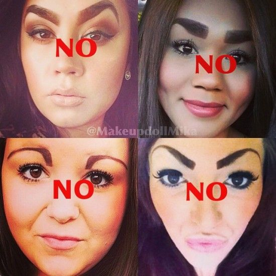 I suggest drawing them on paper before you got at your face! Lmao!!