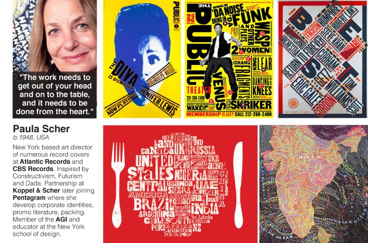 Paula Scher - can be printed A4 size