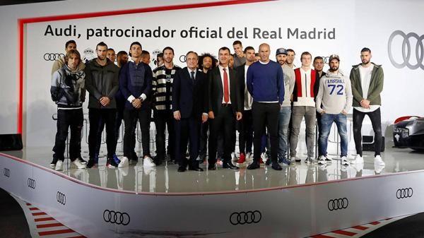 (Video) Audi le entregó 25 autos al plantel del Real Madrid