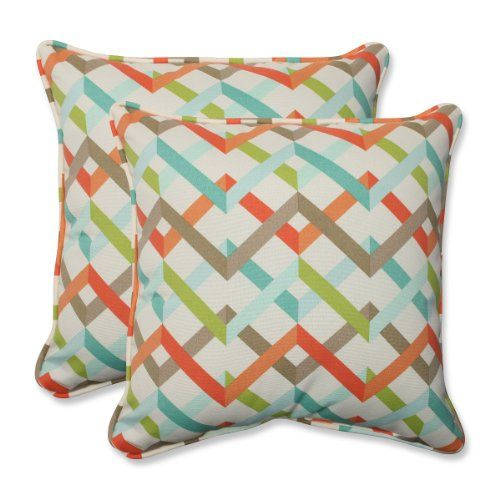 "Set of 2 Laberintos Del Galón Blue, Orange and Brown Outdoor Corded Square Throw Pillows 18.5"" CC Outdoor Living http://www.amazon.com/dp/B00O05H202/ref=cm_sw_r_pi_dp_lOYJvb1BF5658"