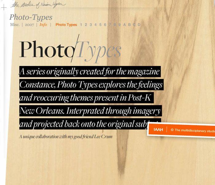 Great Typography web design at iamalwayshungry.com