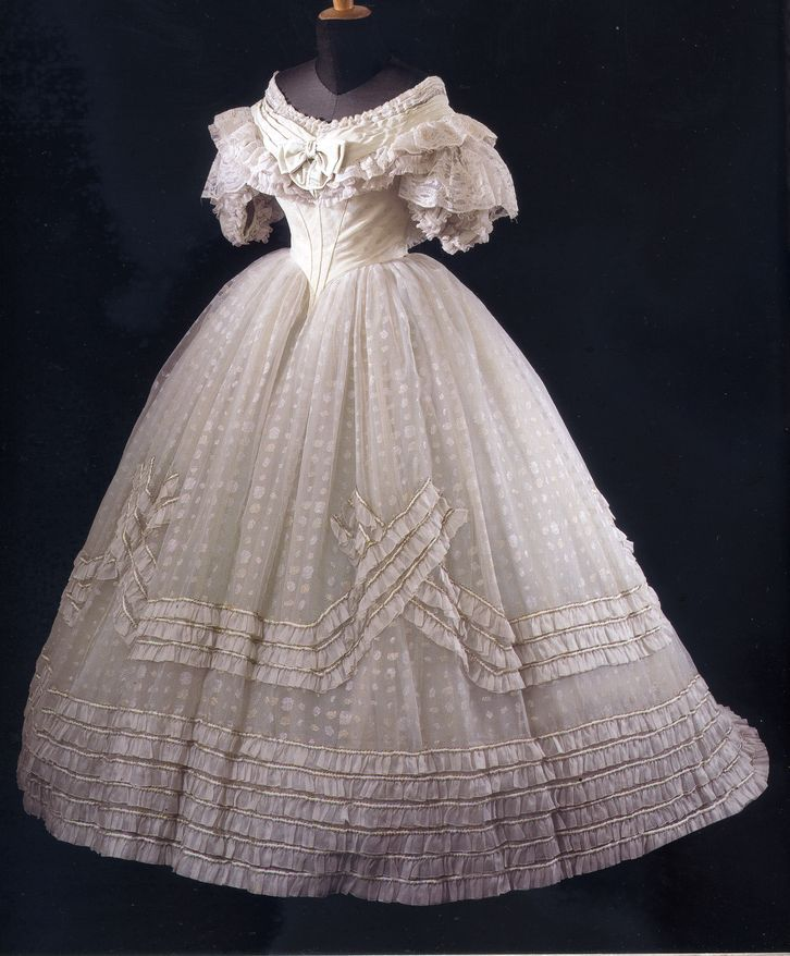 Evening Gown,   c.1860's.