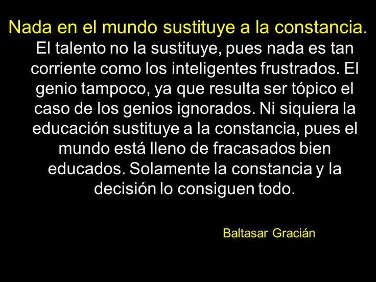 Nada en el mundo sustituye a la constancia.  Jose Manuel Fuentes Prieto