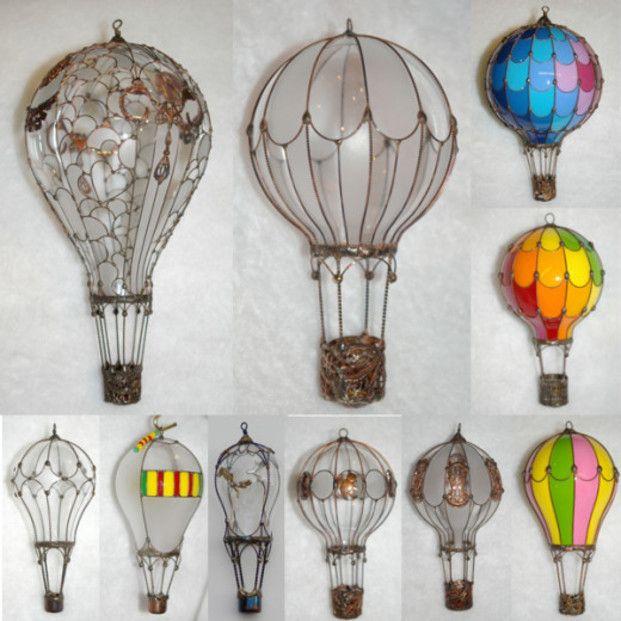 電球で作った気球が可愛すぎ!電球リメイクDIY