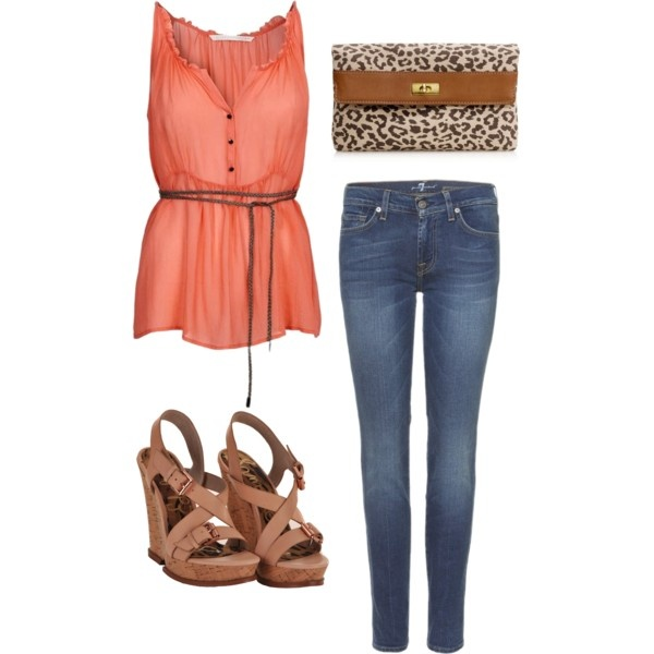 I love this outfit! I'm such a wedge girl: Summer Outfits, Outfits 3