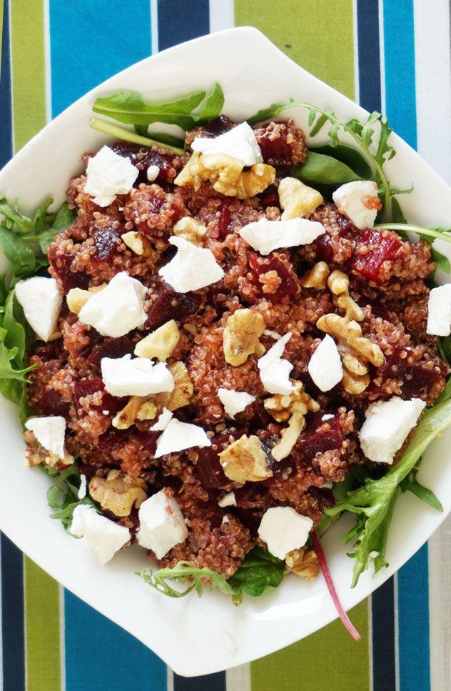 quinoa rode bieten geitenkaas salade