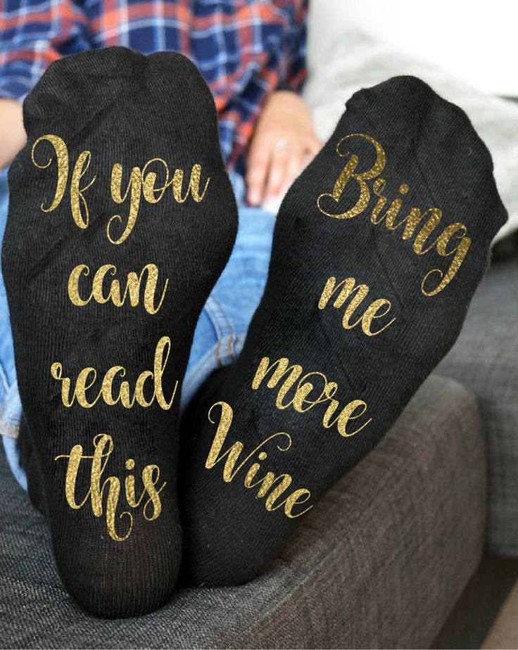 Wine socks - Gold socks - If you can read this bring me more wine gold socks  | eBay