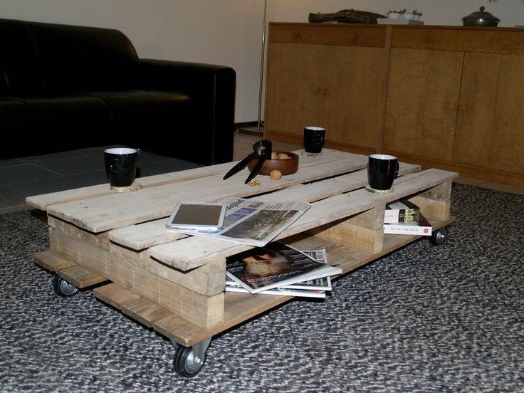 Natuurlijke, Stoere salontafel. Deze tafel staat in ieder interieur leuk, maar kan ook buiten.