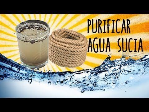 Cómo purificar agua con un cordón - Exp Supervivencia - YouTube