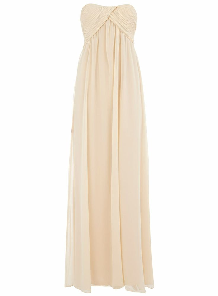 Alice You Cream Ruched Bandeau Maxi Dress View All
